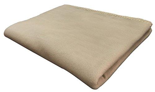 KiGATEX Polar-Fleecedecke in vielen Farben 130x160 cm pflegeleicht für Innen oder Außen (Sand)