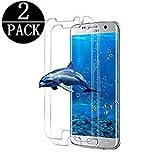 Jjing Suzous [2 - Stück] Samsung Galaxy S7 Edge Schutzfolie gehärtetem Glas, Anti-Fingerabdruck,3D Touch Kompatibel,3D Abdeckung,9H Härte, Anti-Kratzen,Gehärtetem Glas Displayschutzfolie für S7 Edge