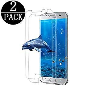 galaxy s7 edge panzerglas Jjing Suzous [2 - Stück] Samsung Galaxy S7 Edge Schutzfolie gehärtetem Glas, Anti-Fingerabdruck,3D Touch Kompatibel,3D Abdeckung,9H Härte, Anti-Kratzen,Gehärtetem Glas Displayschutzfolie für S7 Edge