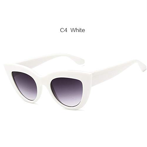 ZHAS High-End-Brille Frauen Cat Eye Sonnenbrille Vintage Spiegel Sonnenbrille Frauen Eyewear Shades Für Damen Personalisierte High-End-Sonnenbrille schwarz grau