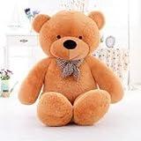 #6: GTC Soft Teddy Bear Birthday Gift for Girlfriend/Wife Happy Birthday Teddy Soft Toy 3 Feet Long (92cm) (Brown)