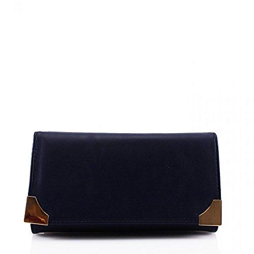 LeahWard® Damen Kunstleder Geldbörsen Groß Marke nett Brieftasche Geldbörse Tasche CW1608 Marine Geldbörse