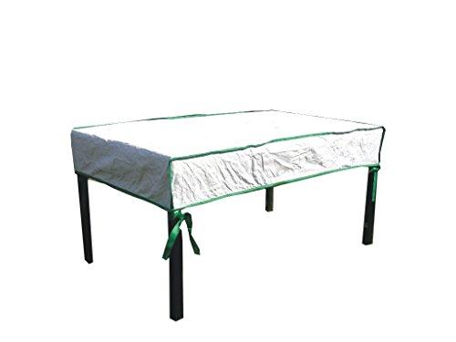 housse de protection pour table de jardin rectangulaire excl. de Tyvek - avec sac de stockage - dimensions: 240cm x 100cm x 15cm