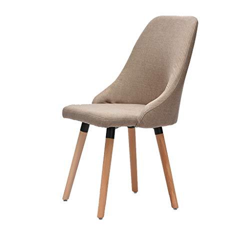 Calyvina Solid Wood Legs Home Esszimmer Stühle Esszimmerstuhl Stuhl mit bequemer Rückenlehne für Küche Esszimmerstühle für Arbeitszimmer,Camel -