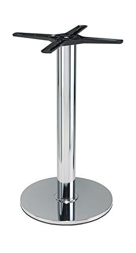 Lucci cromato tavolo da pranzo, base rotonda, altezza del tavolo da pranzo, oak, 80 cm