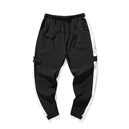 Herren Lange Sweatpants Übergröße Baumwolle Komfort Elastische Taille Taschen Kordelzug Sommer Casual Sport Hosen Slacks Daorokanduhp, Herren, schwarz, XX-Large 20 Fleece Open Bottom Pants