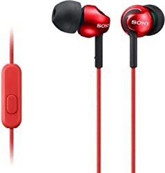 Sony MDR-EX110AP Headphone-Red