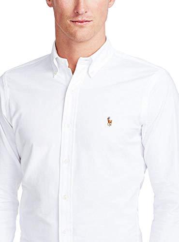 Polo Ralph Lauren Herren Slim FT BD PPC White Freizeithemd, Weiß A1000, Large