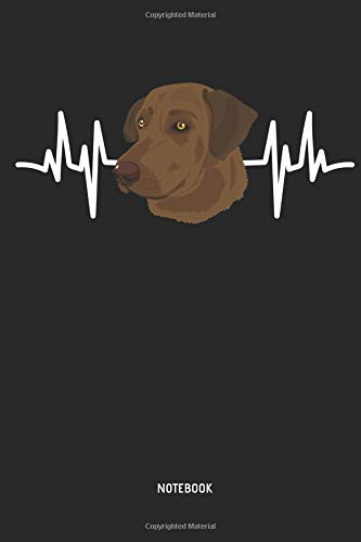 Chocolate Lab | Notebook: Heartbeat Choco Labrador Retriever Notebook / Journal - Great Accessories & Gift Idea for Brown Lab Owner & Lover. -