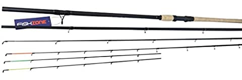 FISHZONE APEX GT SERIES (DUO FLOAT & FEEDER) 10ft and 11ft (3 to 7lb lines) 3 Piece Carbon Composite Quality Dual Purpose Fishing Rod - with three tips (10ft / 3.00m - 3-7lb