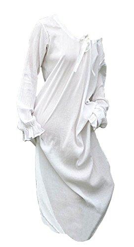 Unterkleid - Mittelalterkleid - Nachtgewand, natur aus Baumwolle - Wikingerkleid - Mittelalter Larp Wikinger Kleid (Authentische Mittelalter Kostüm)