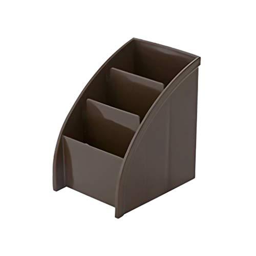 Brown Velvet Kissen (TianranRT★ Kosmetische Aufbewahrungsbox,Aufbewahrungseimer Continental Three Grid Aufbewahrungsbox Für Fernbedienungen New Storage Rack Large Capacity,Brown)