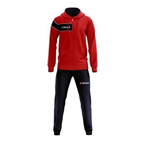 Tuta Clio Rosso-Blu Zeus Corsa Sport Uomo Staff Running jogging Allenamento  Relax Calcio Calcetto 32f3c8d51ed