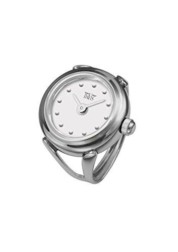 Davis - Ring Watch 4187SW - Anello Orologio Donna-Quadrante Bianco con...