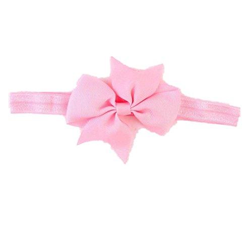 ZEZKT-Girl Baby Kind Mädchen Prinzessin Kristalldiamant Stirnband Blumen Haar-Band Süßes Baby Headband Prinzessin Stretch Stirnbänder Babygeschenke Taufe Geschenk (Rosa) (Adult Baby Kostüme)
