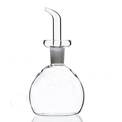 Eleton cylindrique d'huile d'olive Distributeur de bouteille d'huile en verre avec No Drip Bouteille Bec verseur - Huile Distributeur bouteilles pour cuisine - L'Huile D'OLIVE en verre Distributeur au contrôle à l'huile végétale de cuisson et vinaigre 850 mL claire