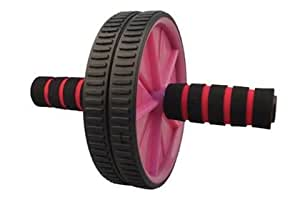 Abdominal Roller Wheel With Knee Pad (Pink)