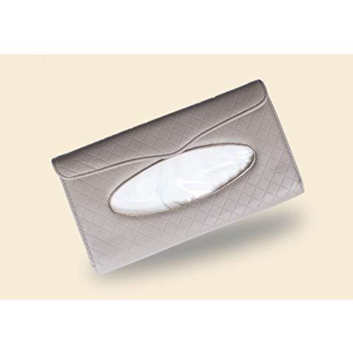 Ploekgda Manuelles nähendes Auto-Sonnenblende-hängenden Gewebe-Kasten-hochwertiges Leder-Auto-Behälter (Color : Gray) (Holz Hängende Kästen)