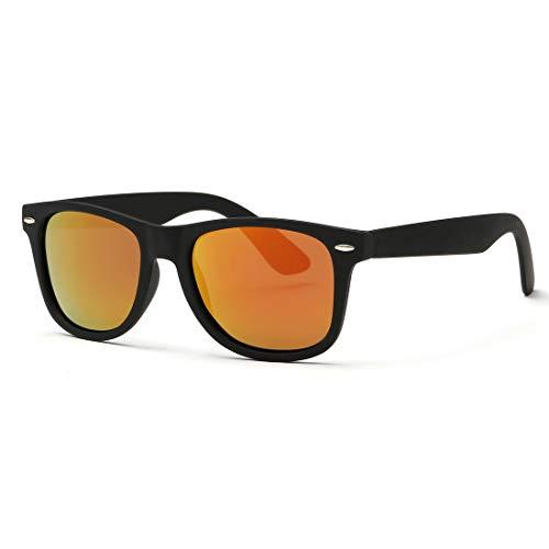 LVLUOYE Classic unisex occhiali da sole polarizzati viaggiare altoparlanti hanno Retor AE0300- gli occhiali neri e rossi cornici 80, 52 mm
