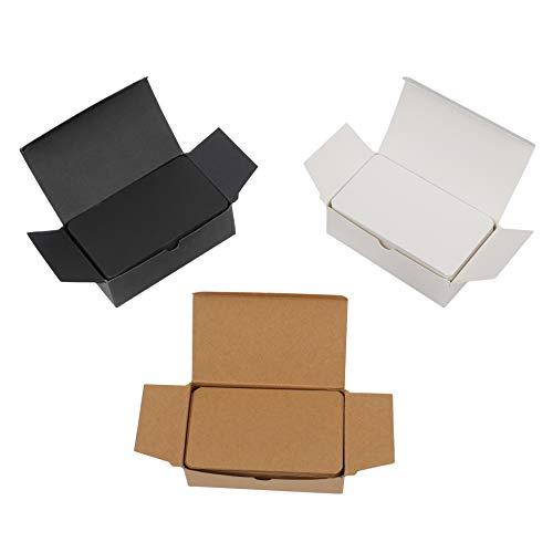 Karte Schwarz Und Weiß (Blanko Karten 300 Stück Farbige Craft Papier Memo Pad Postkarten für DIY Nachricht Geschenk Tags 9 x 5.4 cm (Weiß/Schwarz/Kraftpapier))