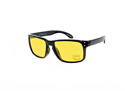 Preisvergleich Produktbild rainbow safety Auto Brille Nachtsichtbrille Nachtfahrbrille Kontrastbrille Blaulicht-Schutz Polarisierte Gläser RWN1P (Schwarz)