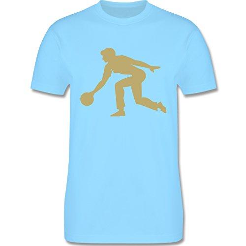 Bowling & Kegeln - Keglerin - Herren Premium T-Shirt Hellblau