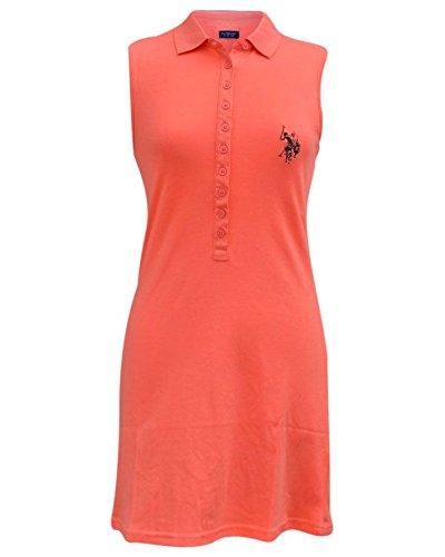 us-polo-association-vestito-donna-peach-s-8-10