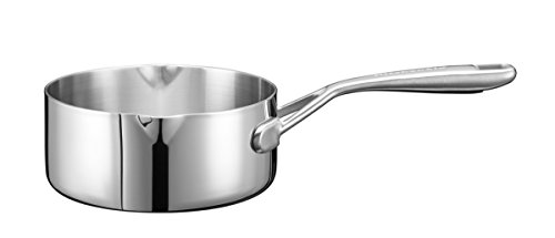 KitchenAid KC2T15MLST 3-Ply Stainless Steel Saucepan with Pouring Lip, Diameter 16 cm
