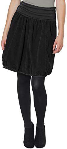 CASPAR RO004 Damen Winter Cord Rock knielang, Farbe:schwarz;Größe:One Size