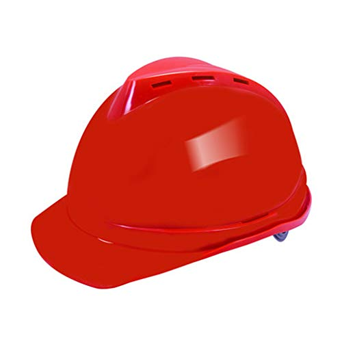 BYAQM Casco De Seguridad Plástico del ABS, Casco Resistente De La Alta Temperatura del Impacto del Casco del Sitio De La Ingeniería De Construcción (Color : Red)