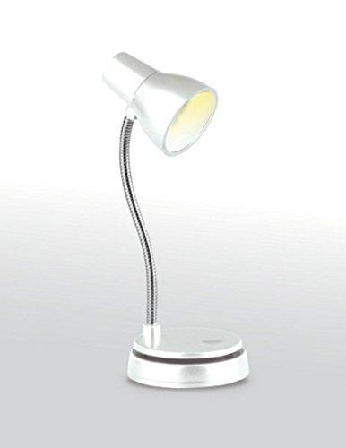 Little Lamp - LED Booklight Leselampe - Weiß: Retro-Buchleuchte und Mini-Tischlämpchen