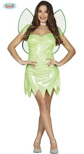 Costume da fata verde brillante per donna S (40-42)