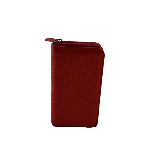 Portafoglio Donna In Pelle Colore Rosso - Pelletteria Toscana Made In Italy - Accessori