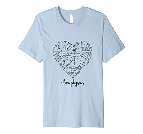 Ich Liebe Physik Wissenschafts Mathe Gleichung T-Shirt