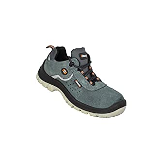 Auda Aniceo S1P SRC White Sole Safety Shoes Work Shoes Flat Green B-Ware, Size:47 EU