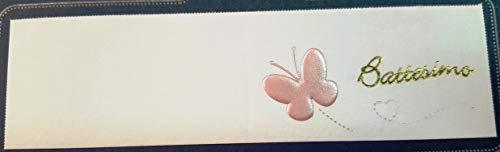 Pianeta confetti bigliettini per bomboniera per battesimo e nascita bimba, rosa, 50 pezzi