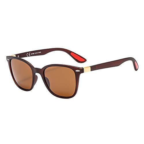 suertree Herren Sonnenbrille Gr. M, Brown Frame Brown Lens