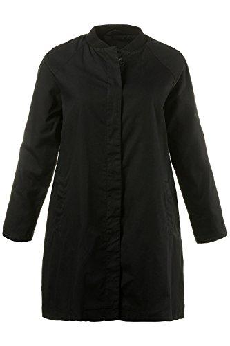 Ulla Popken Femme Grandes tailles Manteau 710249 Noir