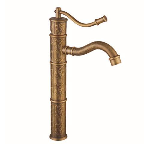 CZOOR Antike Badarmaturen Bronze antiken Wasserhahn Antik Messing Waschbecken Wasserhahn einzigen Handgriff (Bad Wasserhahn Edelstahl Delta)