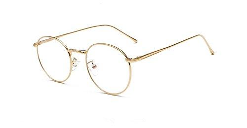 (Volon Brille Retro Glasrahmen-Ebenenspiegel Dekobrille Nerdbrille Klassisches Rund Rahmen Glasses)