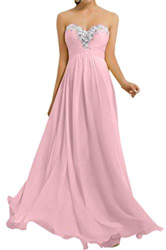 Toscane sweetheart forme de mariée en chiffon pour les demoiselles d'honneur abendkleider party ballkleider de longueur fixe Rose