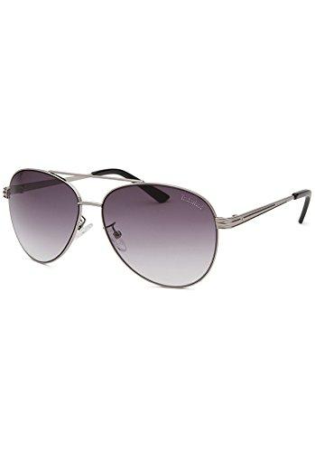 Timberland Unisex Aviator Silver-Tone Sunglasses