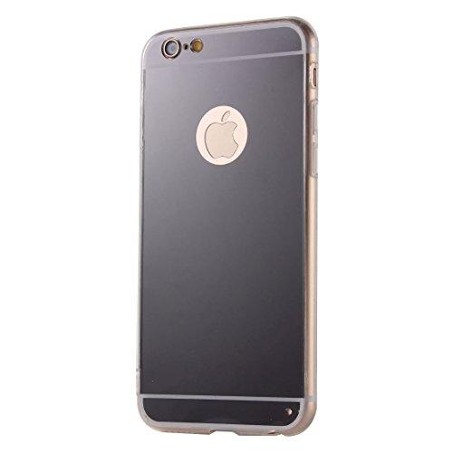 Wkae Case Cover Galvanik Spiegel TPU Schutzhülle für das iPhone 6 &6s ( Color : Gold ) Black