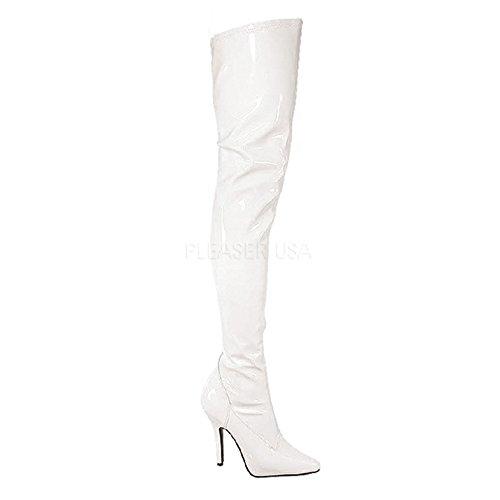 Overknee-Stiefel Lack Weiß