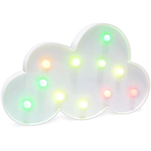 AIZESI Regenbogen Wolke Lampe Wolken Deko LED Nachtlicht Wolke Dekoration Schlafzimmer Wolken Licht Nacht LED Lichter für Kinder Baby Party(Multicolor-Wolken)