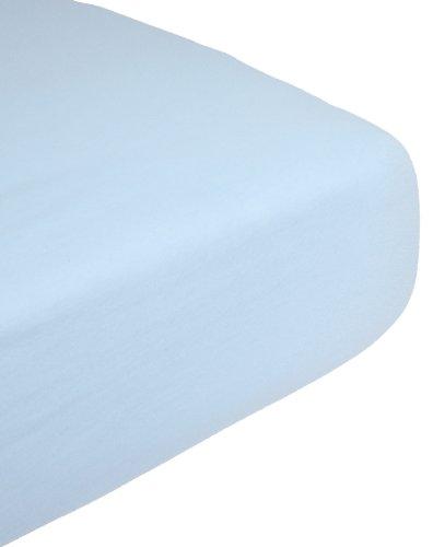 Babysun Nursery Drap Housse Jersey Extensible 100% Coton Bleu 70 x 140 cm