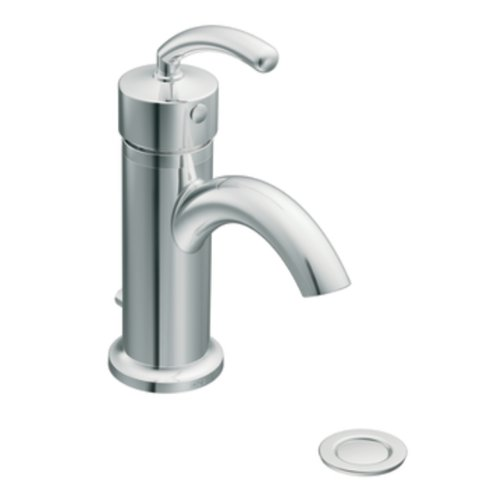 Moen Drain Assembly (Moen S6500 Icon Single-Handle Lavatory Faucett with Drain Assembly, Chrome by Moen)