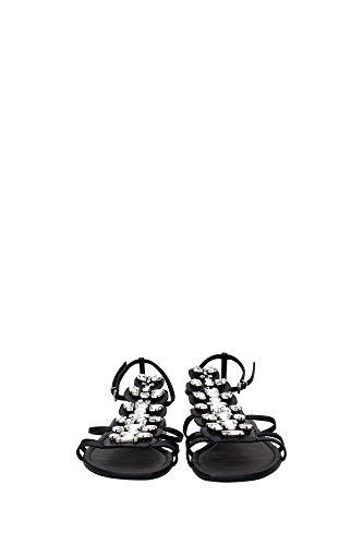 8X48171FWF0NRN Fendi Sandale Femme Cuir Noir Noir