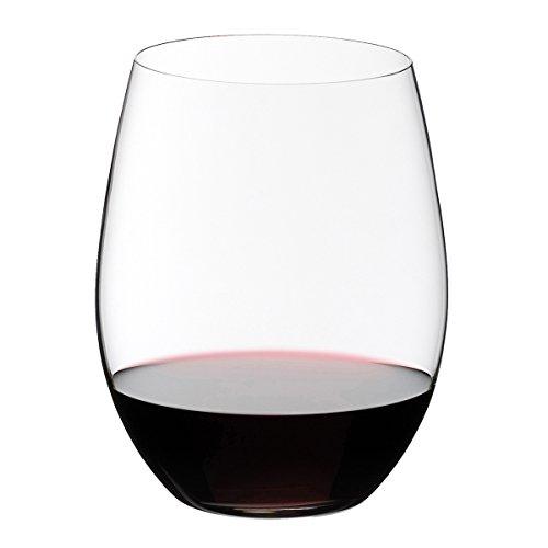 RIEDEL 0414/0 O Wine Tumbler Cabernet/Merlot, 2-teiliges Rotweinglas Set, Kristallglas