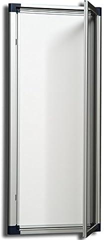 Ulmann 110361-Vitrine extérieure extra plate 4 A4 Blanc